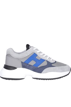 HIGHLIGHT SNEAKERS IN GREY AND BLUE HOGAN | 120000001 | HXM5450DN90PNS615L
