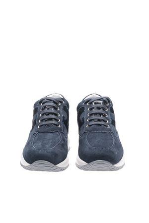 BLUE SUEDE SNEAKERS WITH SEQUINS HOGAN | 120000001 | HXW00N05641CR0U805