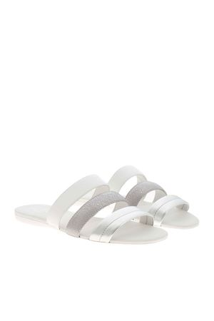 WHITE AND SILVER VALENCIA SLIPPERS HOGAN | 5032258 | HXW1330DN70PKD0906