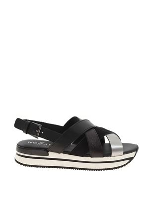 H222 CROSSED SANDALS BLACK HOGAN | 5032241 | HXW2570DK80PDS0RSP