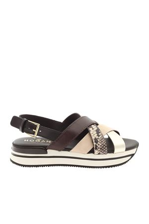 H222 CROSSED SANDALS BLACK HOGAN | 5032241 | HXW2570DK80PDT0RSQ