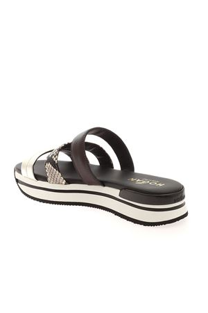 H257 SANDALS IN BLACK AND SILVER HOGAN | 5032241 | HXW2570DN70PKG0RB4
