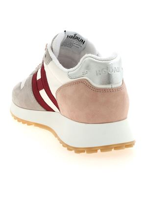 H429 WHITE SNEAKERS IN GREY AND PINK HOGAN | 120000001 | HXW4290CM40PD60RAT