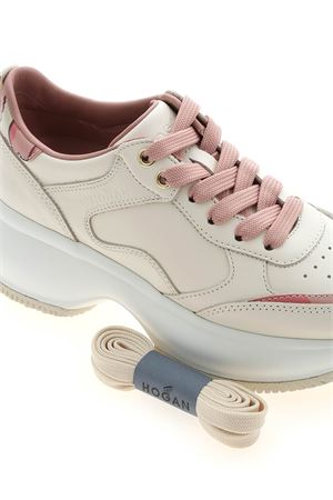MAXI ACTIVE I SNEAKERS IN BEIGE AND PINK HOGAN | 120000001 | HXW4350BN53KLAB003