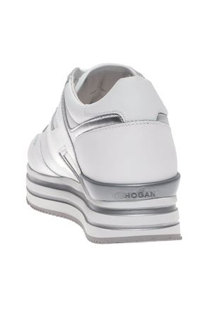 MIDI H222 SNEAKERS IN WHITE AND SILVER HOGAN | 120000001 | HXW4830CB81IEC0351