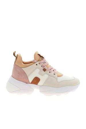 INTERACTION SNEAKERS IN PINK AND BEIGE HOGAN | 120000001 | HXW5250CH20PAX0RAM
