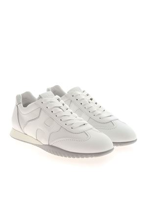OLYMPIA_Z SNEAKERS IN WHITE LEATHER HOGAN | 5032238 | HXW5650DO00POJ0351