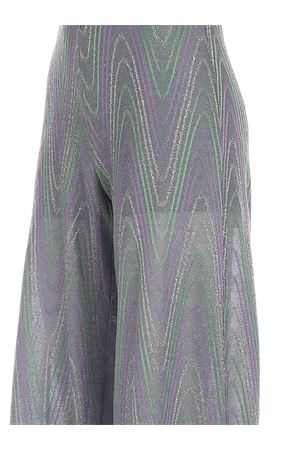 LAMÉ KNITTED PANTS IN GREEN AND PURPLE M MISSONI   20000005   2DI002662J0051L903R