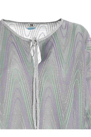 LAMÉ BOXY BLOUSE IN GREEN, PURPLE AND SILVER M MISSONI | 10000004 | 2DJ001372J0051L903R
