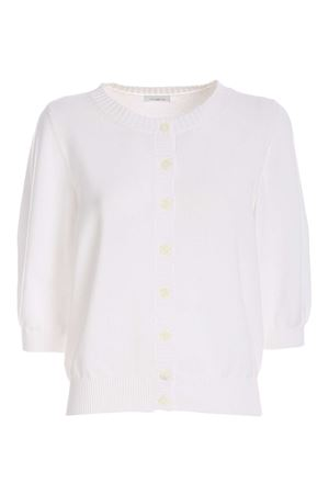 COTTON CARDIGAN IN WHITE MALO | 39 | DXG075F3B30E105