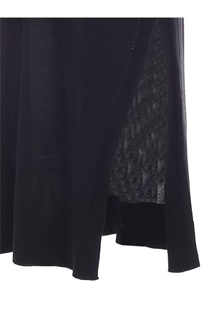 KNITTED LONG FIT VEST IN BLACK MALO | 38 | DXI002F3I27E516