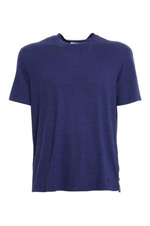 LINEN T-SHIRT IN BLUE MALO | 8 | UJF013JBU04E3050