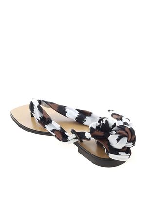 PIO SANDALS IN FABRIC AND ECO-LEATHER MAX MARA BEACHWEAR | 5032241 | 35210118600002