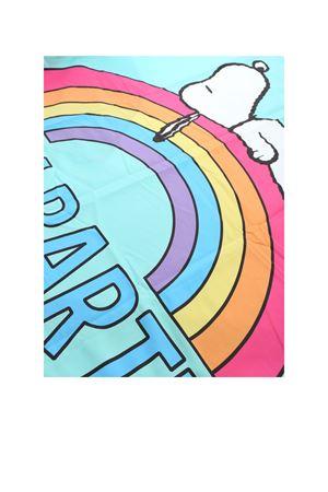 SNOOPY RAINBOW PRINT BEACH TOWEL IN LIGHT BLUE MC2 SAINT BARTH | 54 | AIDANSNRW56