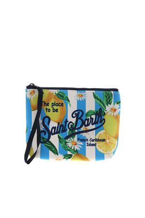 ALINE LEMONS PRINT BAG IN BLUE MC2 SAINT BARTH | 62 | ALINECITL31