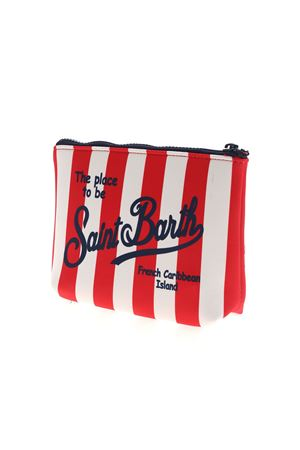 ALINE STRIPED BAG IN RED AND WHITE