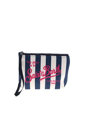ALINE STRIPED BAG IN BLUE AND WHITE MC2 SAINT BARTH | 62 | ALINELIG61
