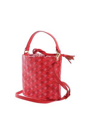 PALM PRINTED BUCKET BAG IN RED MC2 SAINT BARTH | 5032270 | BUCKETBAGSBMO41