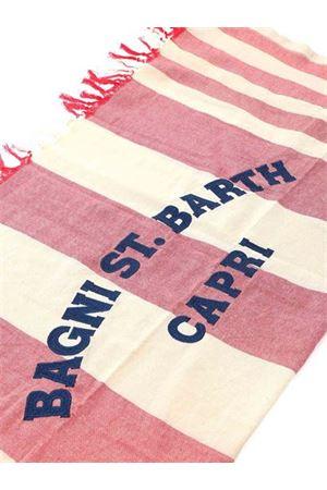 FOUTAS BEACH TOWEL IN RED AND CREAM COLOR MC2 SAINT BARTH | 54 | FOUTASLIGHTNECST41