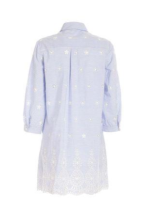 STRIPED LONG SHIRT IN LIGHT BLUE AND WHITE MC2 SAINT BARTH | 6 | HELENASNC30