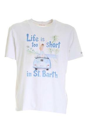 T-SHIRT BIANCA STAMPA LIFE IS TOO SHORT TSHIRTMANLISH1N MC2 SAINT BARTH | 8 | TSHIRTMANLISH1N