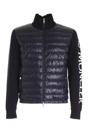 PADDED TRICOT CARDIGAN IN BLUE MONCLER | 39 | 9B52100V9059742
