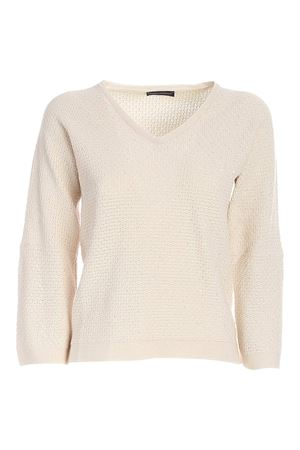MICRO SEQUINS SWEATER IN CREAM COLOR
