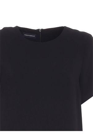 SHORT SLEEVES LONG DRESS IN BLACK PAOLO FIORILLO CAPRI | 11 | 32722553999