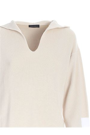 RIBBED HOODIE IN CREAM COLOR PAOLO FIORILLO CAPRI | -108764232 | 5723614036002