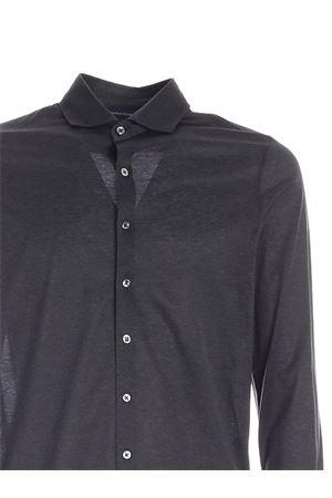 COTTON SHIRT IN MELANGE BLACK PAOLO FIORILLO CAPRI | 6 | 6012074001097