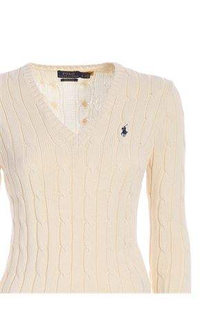 LOGO EMBROIDERY SWEATER IN CREAM COLOR
