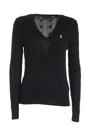 CABLE-KNIT COTTON JUMPER IN BLACK POLO RALPH LAUREN | -1384759495 | 211580008039