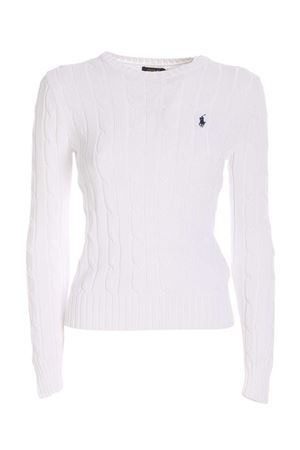 WHITE TWIST PIMA COTTON SWEATER POLO RALPH LAUREN | -1384759495 | 211580009005