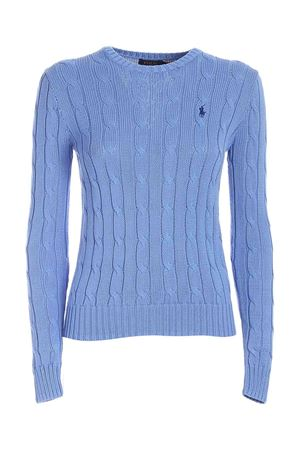 LOGO EMBROIDERY SWEATER IN LIGHT BLUE POLO RALPH LAUREN | -1384759495 | 211580009091