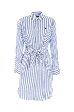 STRIPED DRESS IN LIGHT BLUE AND WHITE POLO RALPH LAUREN | 11 | 211781122001