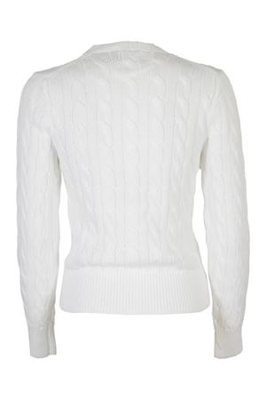 LOGO EMBROIDERY CARDIGAN IN WHITE POLO RALPH LAUREN | 39 | 211792413001