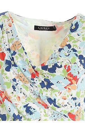 ALL-OVER FLOWER PRINT DRESS IN WHITE POLO RALPH LAUREN | 11 | 250834123001