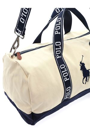 TRAVEL BAG IN BEIGE AND BLUE POLO RALPH LAUREN | 5032286 | 405809327002