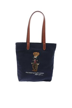 POLO BEAR EMBROIDERY TOTE BAG IN BLUE POLO RALPH LAUREN | 5032266 | 405819539001