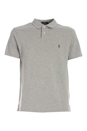 GREEN LOGO POLO SHIRT IN MELANGE GREY POLO RALPH LAUREN | 2 | 710536856272
