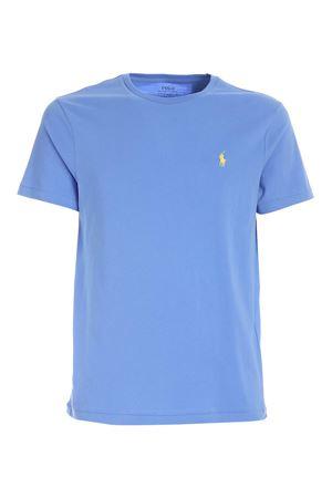 LIGHT BLUE SLIM FIT CUSTOM T-SHIRT POLO RALPH LAUREN | 8 | 710671438057