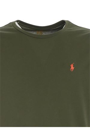 LOGO EMBROIDERY T-SHIRT IN GREEN POLO RALPH LAUREN | 8 | 710671438212