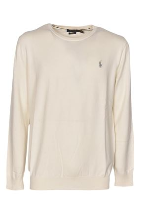 LOGO SWEATER IN ANTIQUE CREAM COLOR