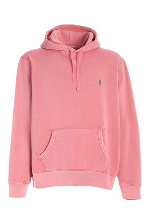GREEN LOGO SWEATSHIRT IN PINK