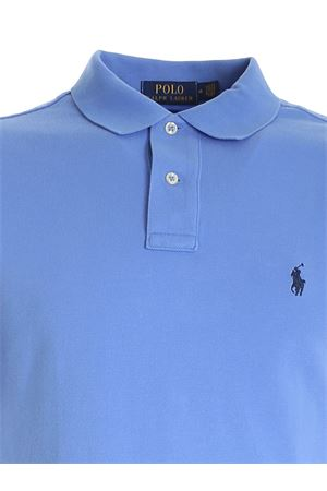 SLIM FIT POLO SHIRT IN LIGHT BLUE WITH BLUE LOGO POLO RALPH LAUREN | 2 | 710795080015