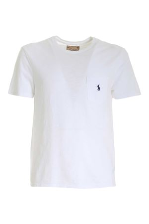 T-SHIRT IN WHITE WITH POCKET AND BLUE LOGO POLO RALPH LAUREN | 8 | 710795137001