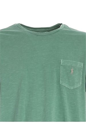 GREY LOGO T-SHIRT IN GREEN