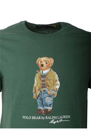 POLO BEAR PRINT T-SHIRT IN GREEN POLO RALPH LAUREN | 8 | 710835761003