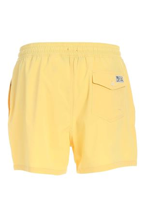 EMBROIDERED LOGO SWIM TRUNKS IN YELLOW POLO RALPH LAUREN | 85 | 710837404007