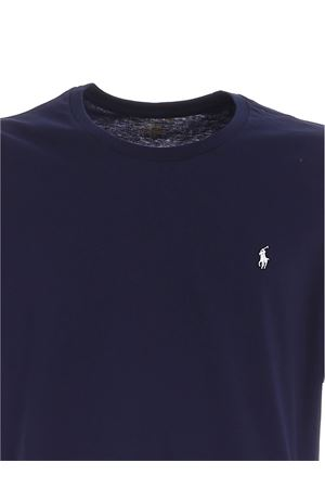 WHITE LOGO EMBROIDERY T-SHIRT IN BLUE POLO RALPH LAUREN | 8 | 714706745002